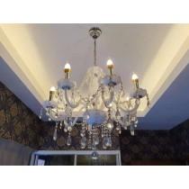 European Design Transparent White Crystal Chandelier
